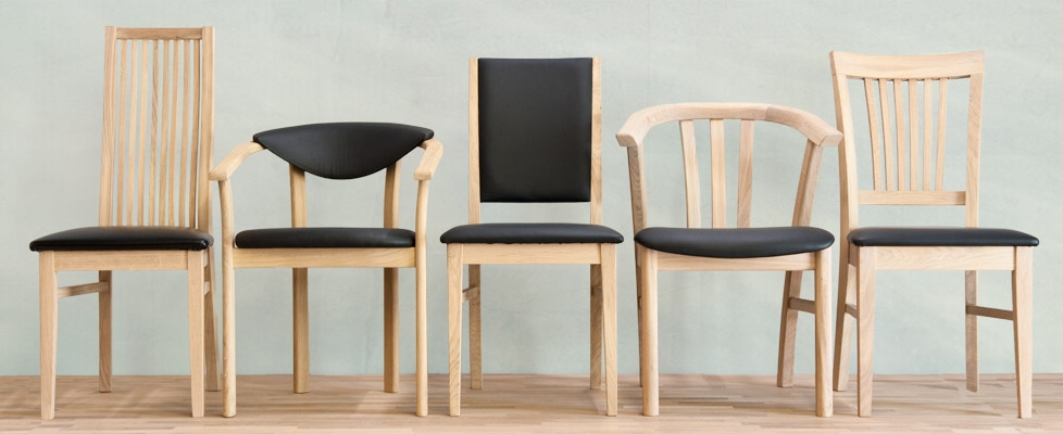 Billede af 4 egetræs stole