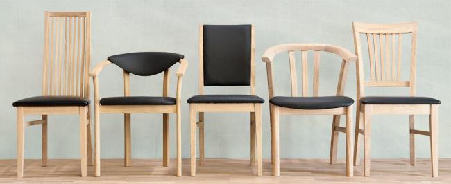 Billede af 5 massive egetræsstole